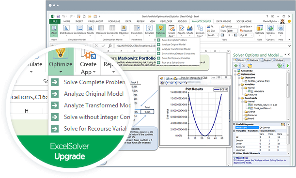 Analytic Solver - Optimization product screenshot